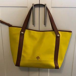 Kate Spade, yellow/brown tote bag